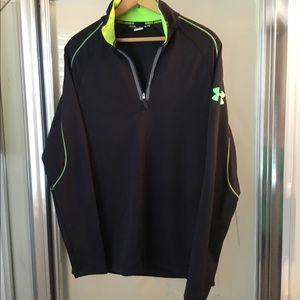 Under Armour Black & Green Shirt